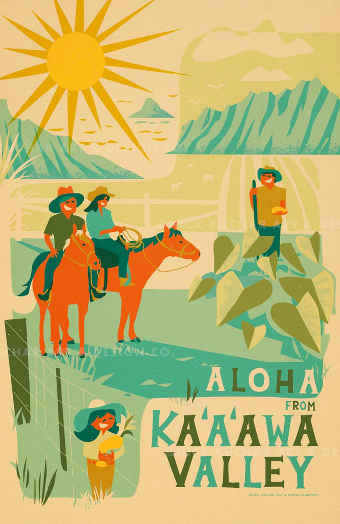 Ka'a'awa Travel Print by Nick Kuchar - NEW!