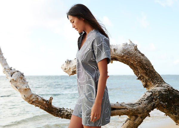 Monstera Ash Mini Kaftan - NEW!