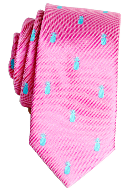 Pineapple Vice Pink Slim Silk