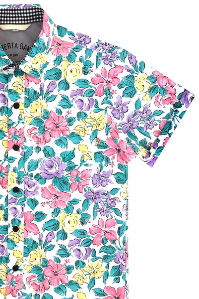 Pacific Blooms White - SIZE M + L ONLY