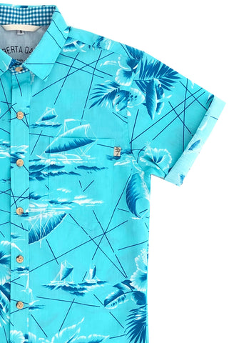 SOUTH SEAS AQUA - ALL SIZES BACK IN STOCK