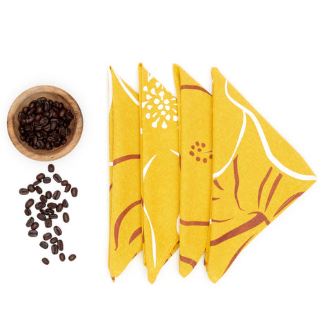 Waialua Linen Napkin Set - Curry