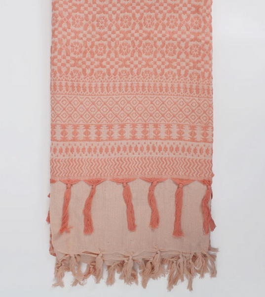 DESERT ROSE EMBROIDERED SCARF