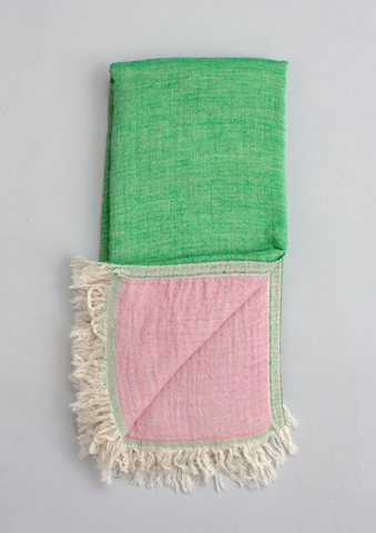 Two-ply Cozy Hammam Towel, Leaf + Rose