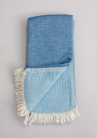 Two-ply Cozy Hammam Towel, Sea + Sky