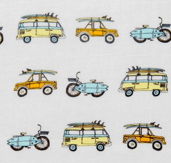 Swaddle Blanket - Surf Mobiles