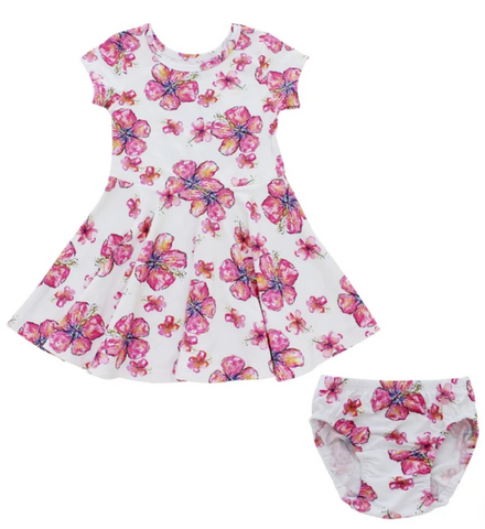 Dress & Bloomers - Hibiscus