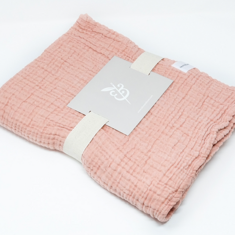 Cozy Cotton Baby Blanket - Apricot
