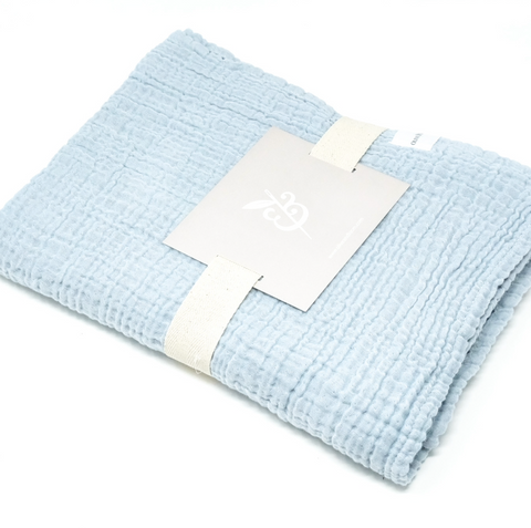 Cozy Cotton Baby Blanket - Blue