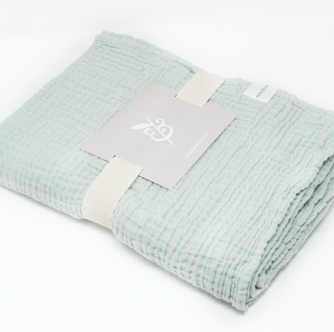 Cozy Cotton Baby Blanket - Sage