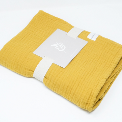 Cozy Cotton Baby Blanket - Honey