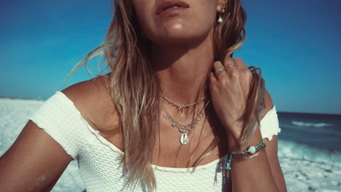 Crescent Choker Moonstone - Kate Davis