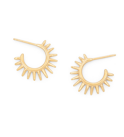 Mini Urchin Earrings Gold Fill