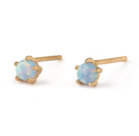 Opal Astro Studs - 14K Gold