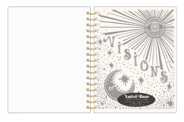 VISIONS RULED SPIRAL NOTEBOOK