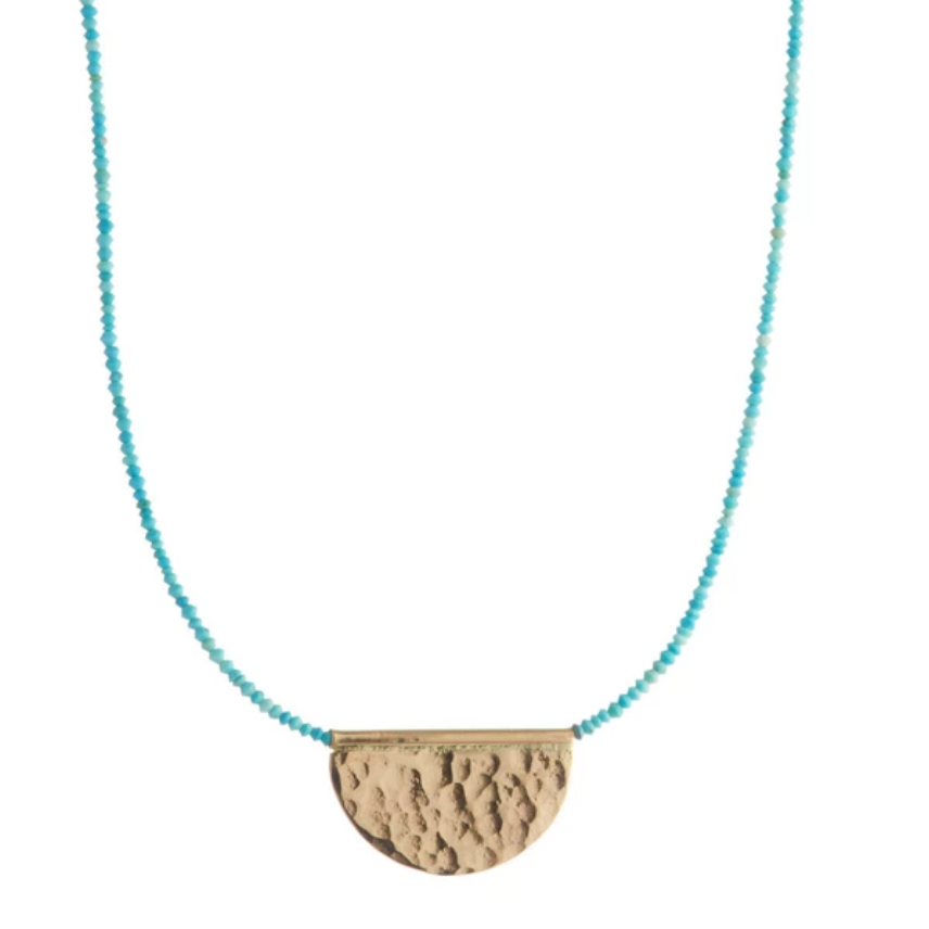 Sol Collar Turquoise + 14KGold Fill