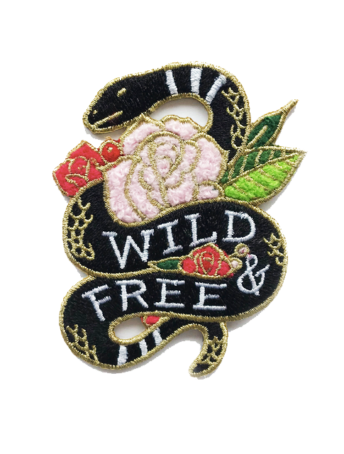 WILD & FREE CHENILLE PATCH