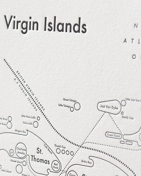 Virgin Islands Letterpress Print