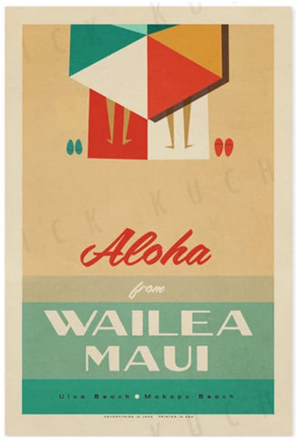 Evertything is Jake! Wailea Travel Poster