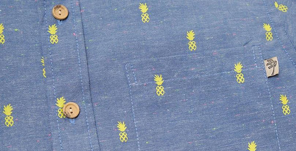 Pineapple Pop Chambray Ladies - SIZE XS ONLY