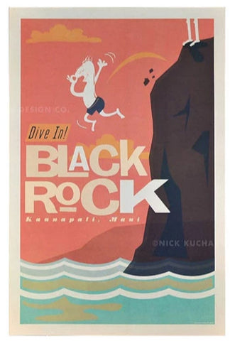 Black Rock Poster by Nick Kuchar