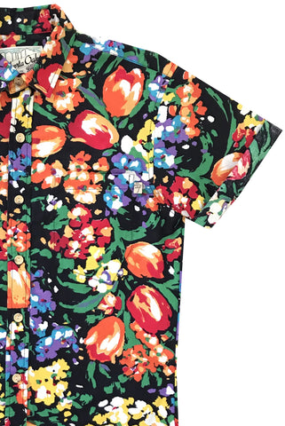Night Blooms Short Sleeve - SIZE L ONLY
