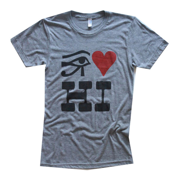 RO Eye Heart Hawaii Tee Grey
