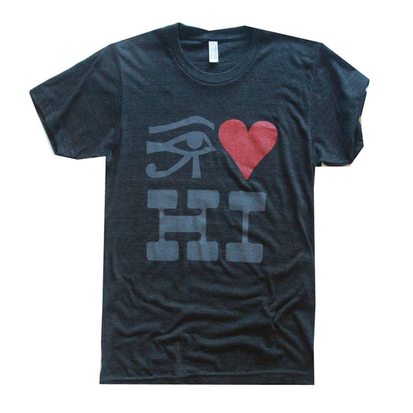 RO Eye Heart Hawaii Tee Charcoal