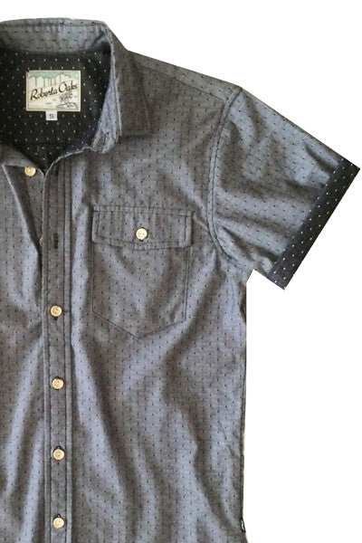 Chambray Dots- Charcoal - SIZE XS ONLY