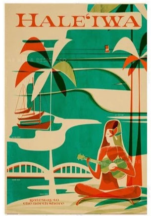 Evertything is Jake! Hale'iwa Travel Poster