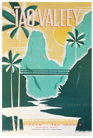 Iao Valley Poster by Nick Kuchar