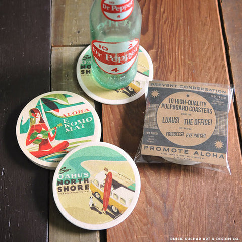 E Komo Mai Double Sided Coaster Set