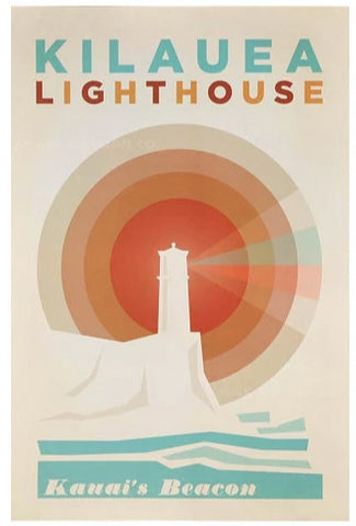 Kilauea Lighthouse Poster by Nick Kuchar