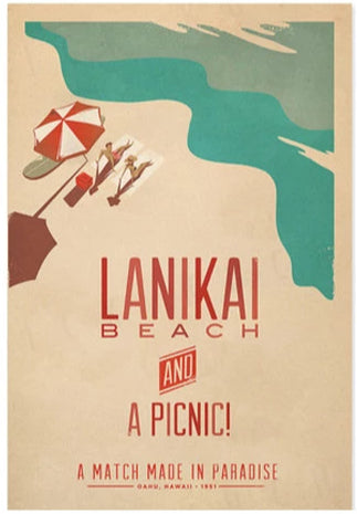 Lanikai Beach Poster by Nick Kuchar