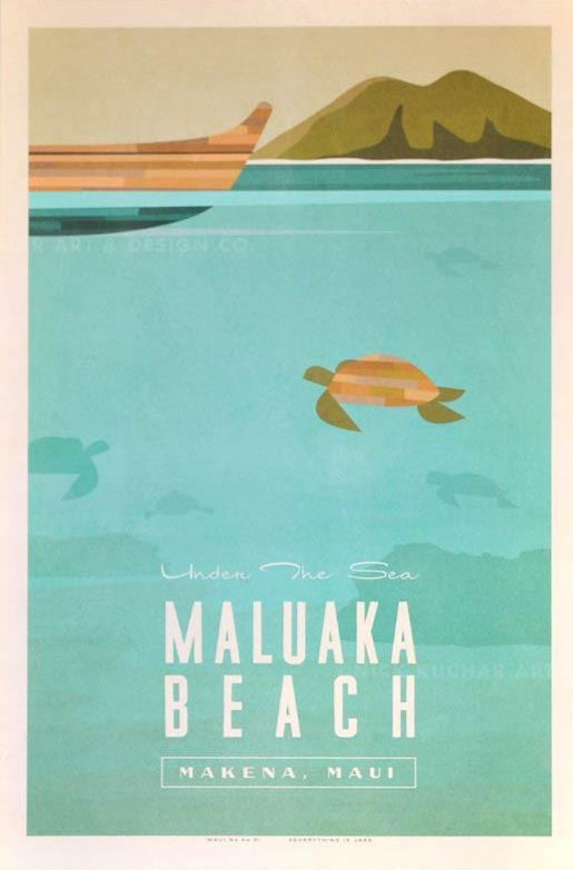 Maluaka Travel Print by Nick Kuchar