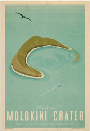 Molokini Crater Poster by Nick Kuchar
