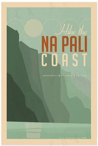 Everything Is Jake! Napali Coast Poster