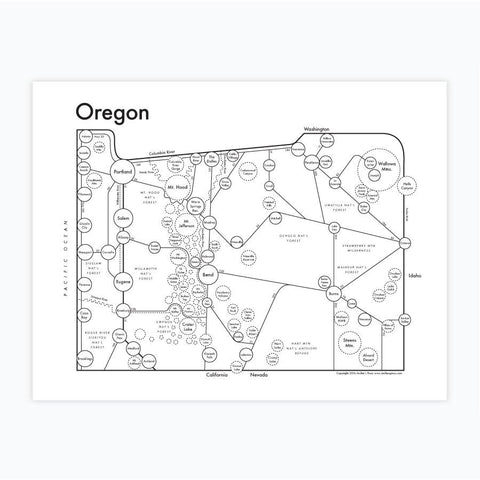 Oregon Letterpress Print