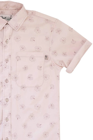 Hibiscus Short Sleeve Faded Blush - LIMITED SIZE RESTOCK