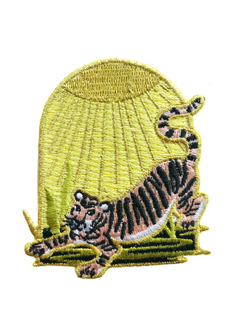 SUN TIGER CHENILLE PATCH