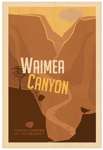 Waimea Canyon Poster by Nick Kuchar