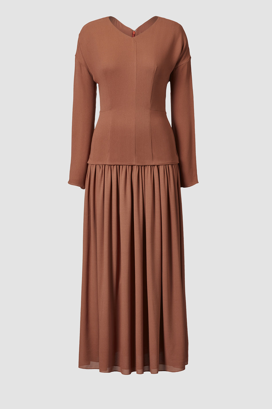 Tove Etienne Long Sleeved Dress Rust