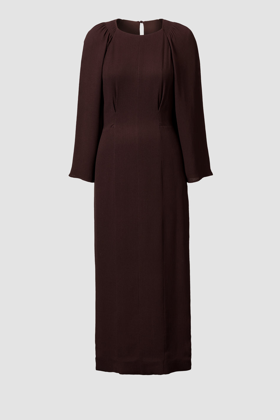 Hollie Silk Chocolate Brown Silk Dress