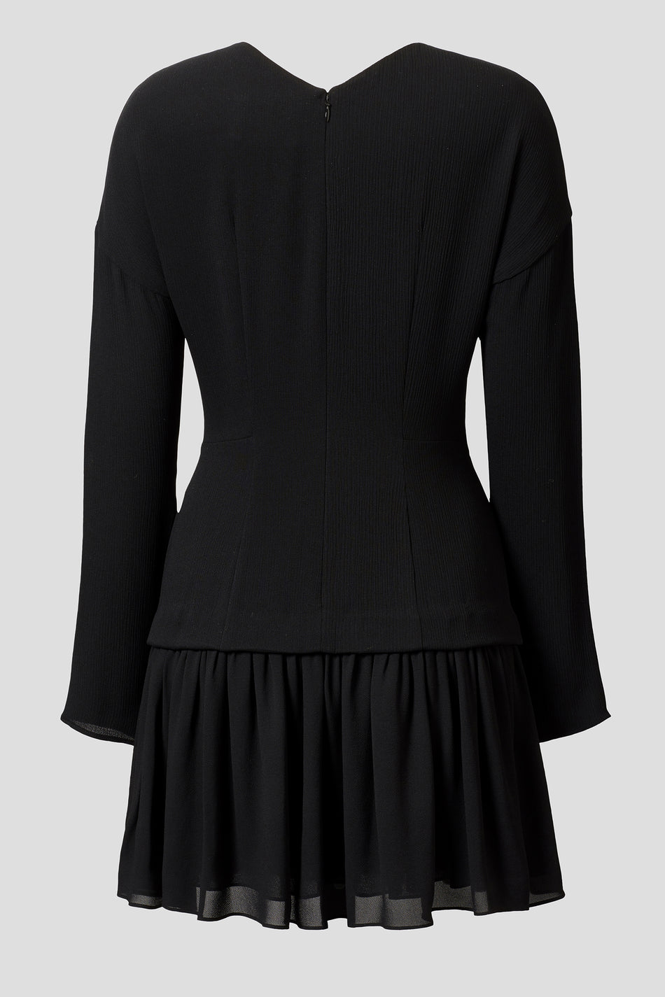 Iris Silk Mini Dress Black