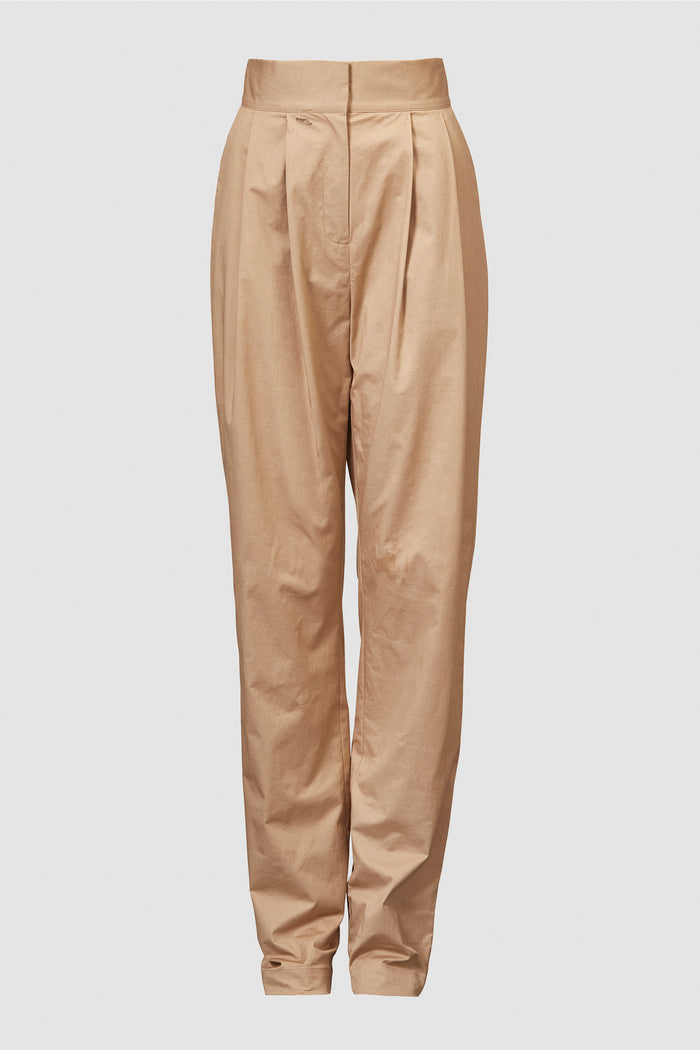 Lourdes Organic Cotton Trouser Sand