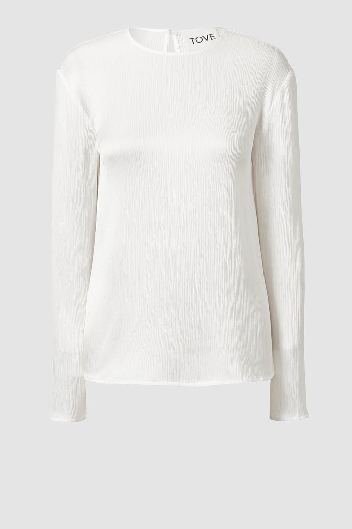 Tove Marlowe Long Sleeve Silk Top White
