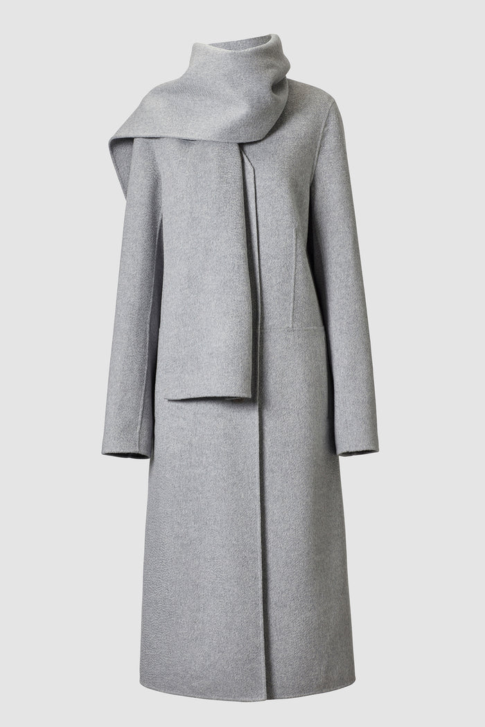 Mio Long Lambswool Scarf Coat