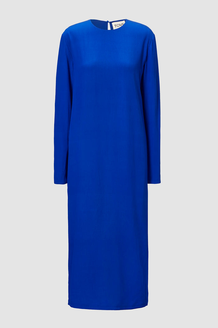 Nova Long Sleeve Silk Crepe Midi Dress