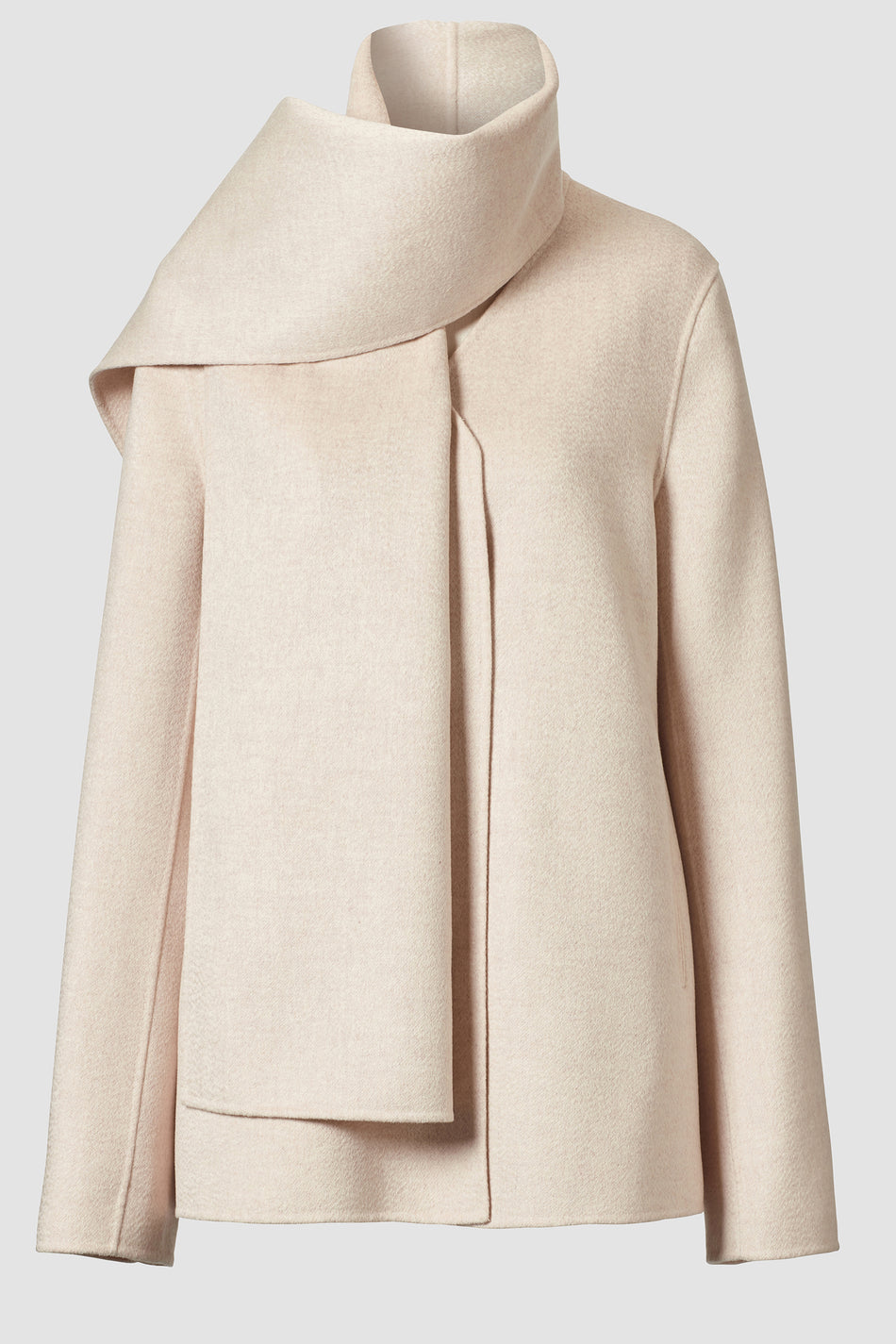 Roma Short Lambswool Scarf Coat