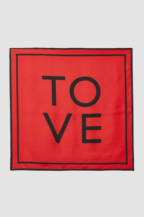 TOVE Studio Rowe Silk Scarf Carmine Red